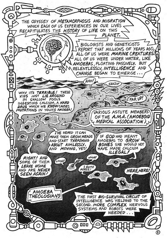 Read Timothy Leary's brain-melting comic about space migration and the future of human consciousness