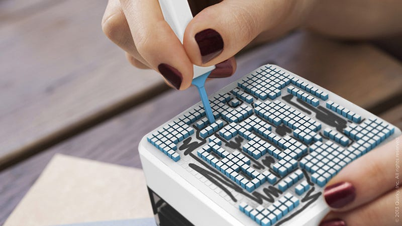 Customizable Pixel Stamp Lets You Painstakingly Punch Out Any Design