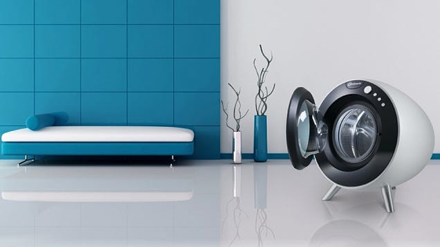 This Beautiful Design Finally Fulfills the Washer's Round-Machine Destiny