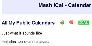 MashiCal Combines Any iCal Feeds You Throw At It