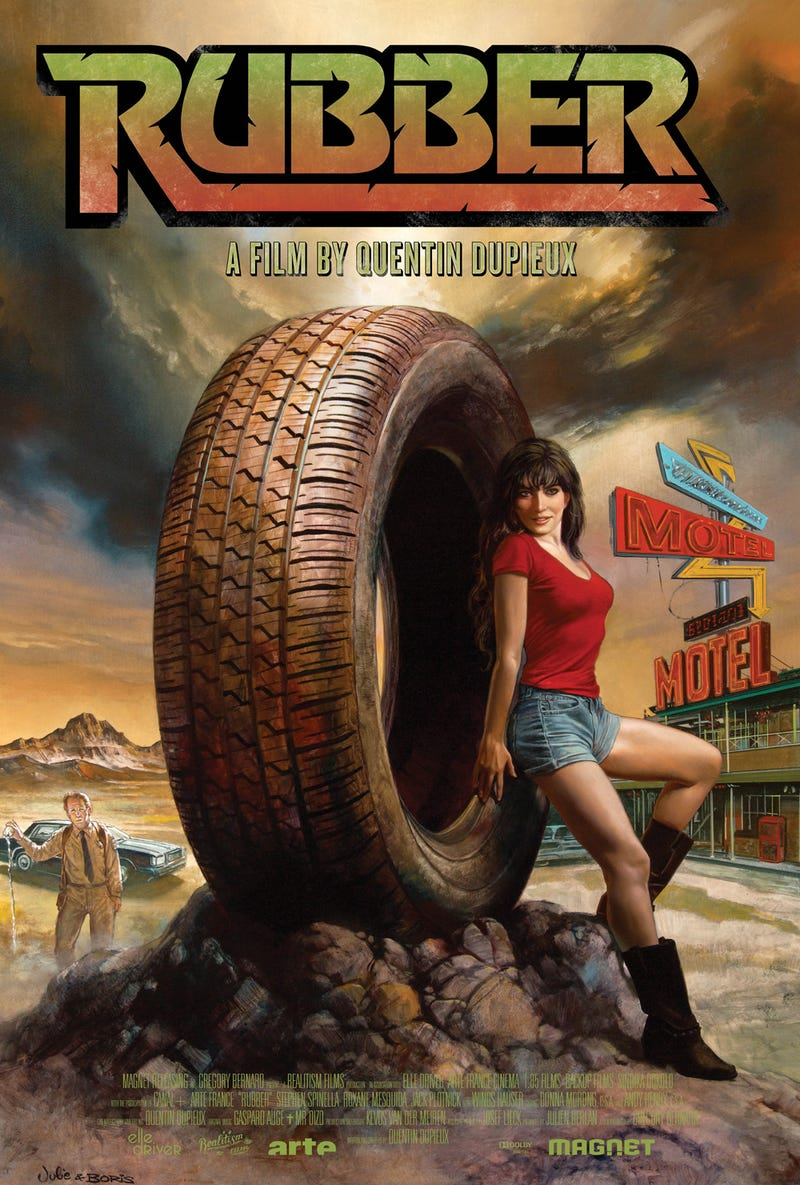 The world's most supermacho fantasy artist paints a giant psychic tire