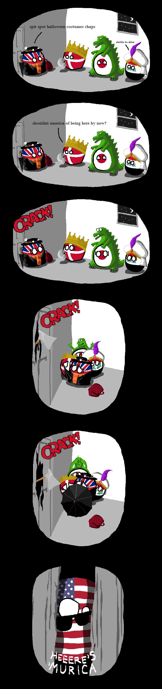 Daily Polandball: Happy Halloween, Here's 'Merica!