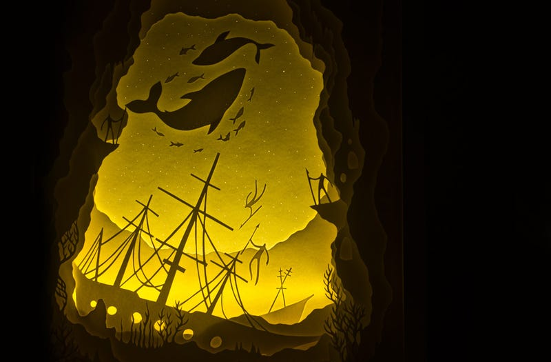 Myths Illuminated In Shadow Boxes Make Believers Of Us All