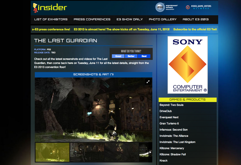 "Sony Calls The Last Guardian's E3 Listing ""Pure Speculation"" [Update]"