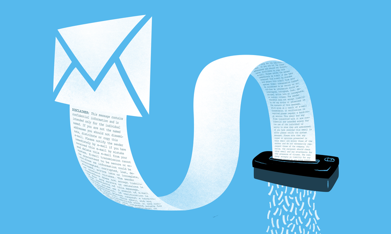 Are Email Disclaimers Meaningless?