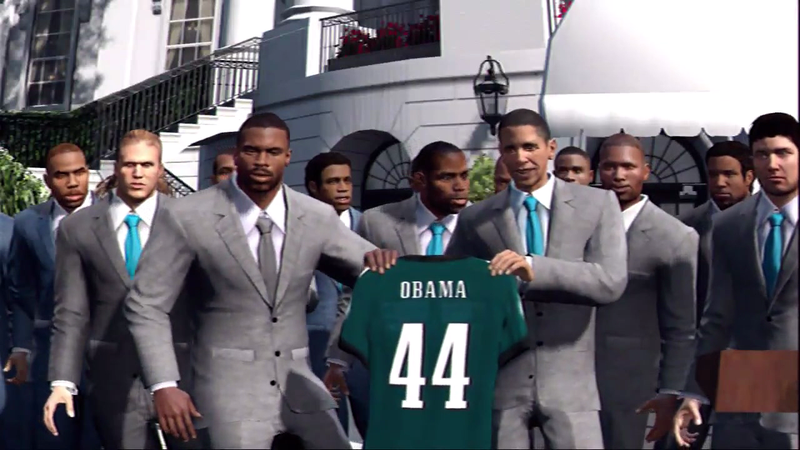 President Obama Isn't In Madden's Championship Scene—But He's Still On For NBA 2K13