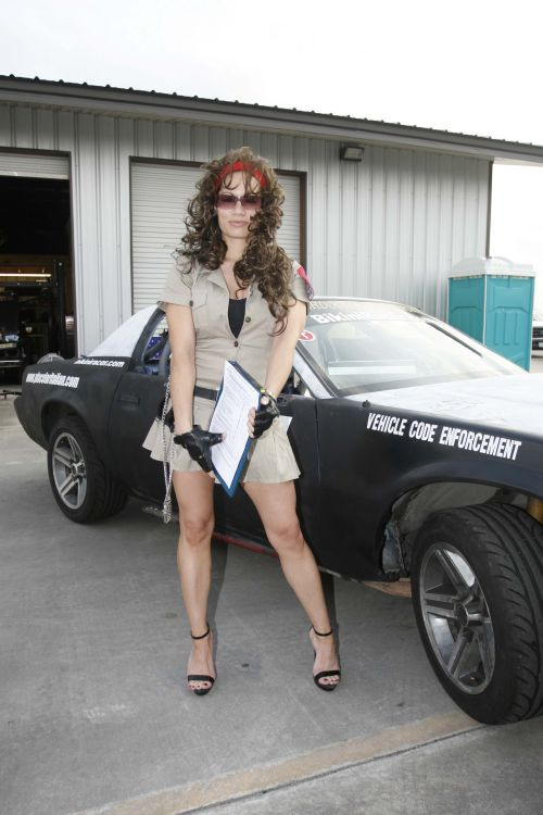Bikini Racer At The Dragstrip And LeMons Track
