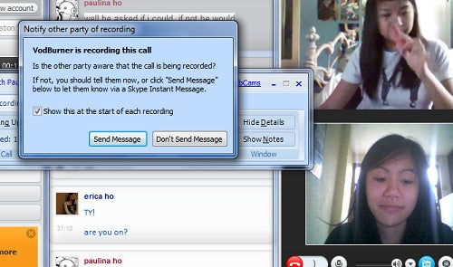 Vodburner Records and Edits Skype Video Chats