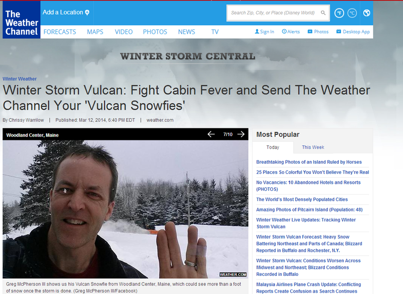 "The Weather Channel Wants Your ""Vulcan Snowfies!"""