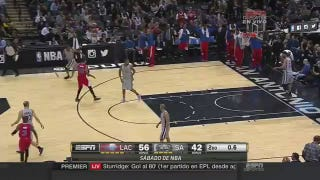 Boris Diaw Buzzer-Beater Attempt Beans Gregg Popovich