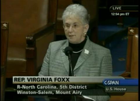 Virginia Foxx, GOP Hero