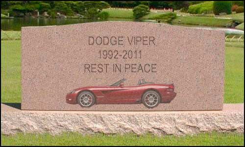 The Dodge Viper Is Dead: In Lieu Of Flowers, Please Send R&D Funds