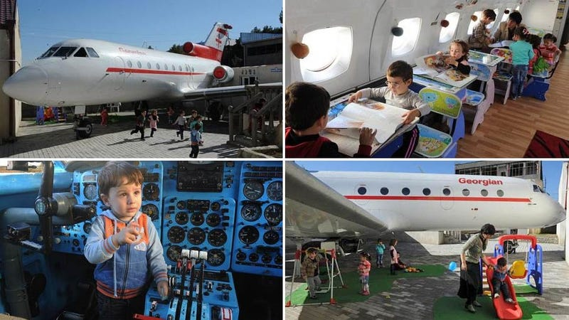 The Luckiest Kindergarteners Ever Go To School In a Repurposed Plane