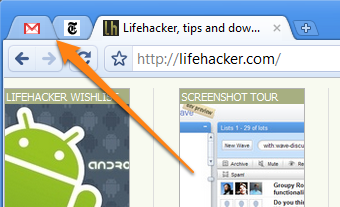 Chrome's Pin Tab Feature Shrinks Tabs to Favicons Only