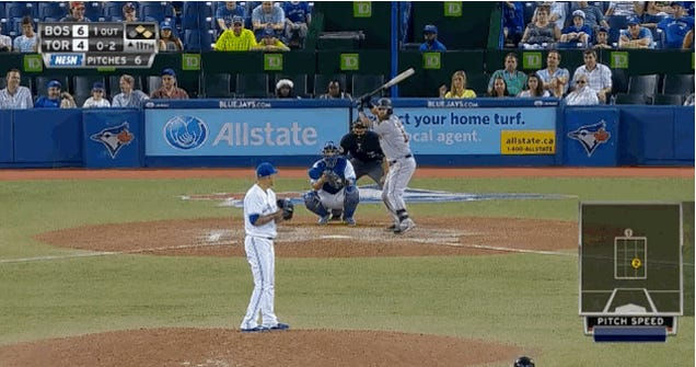 Mike Napoli, In The Rogers Centre, With Brute Damn Force