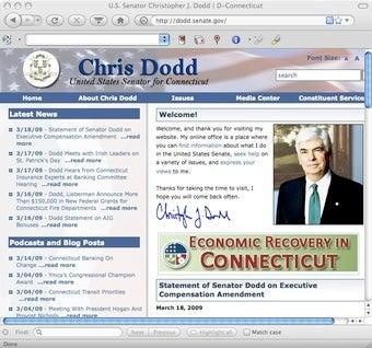 Chris Dodd's Senate Web Site Hacked?
