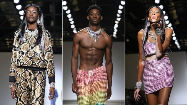 Sequin King Ashish Cast All Black Models in His Latest Runway Show