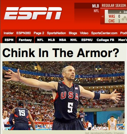 ESPN Headline Writers Probably Should've Opted For Something Less Chinky