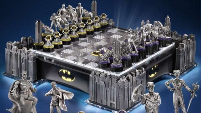 Only Bruce Wayne can afford this ludicrously expensive Batman chess set