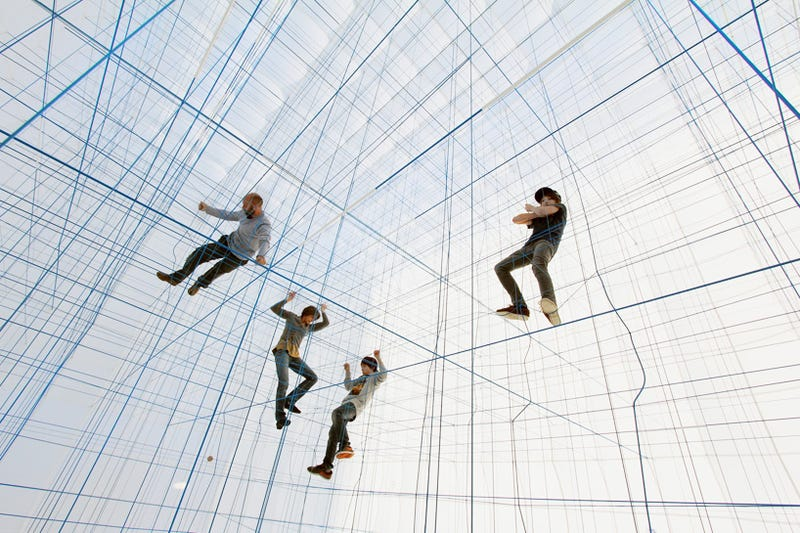 Weird giant room full of strings or inter-dimensional jail, you decide