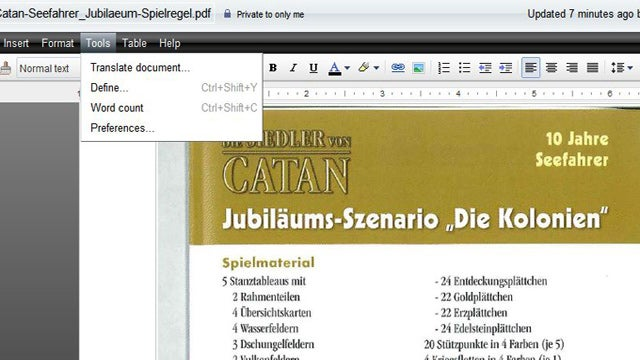 Use Google Docs to Translate PDFs