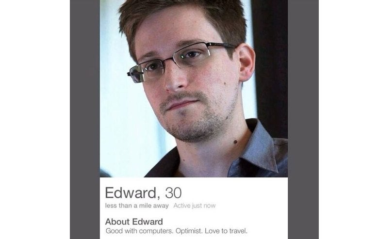 Fake Edward Snowden Infiltrates Hearts on Tinder