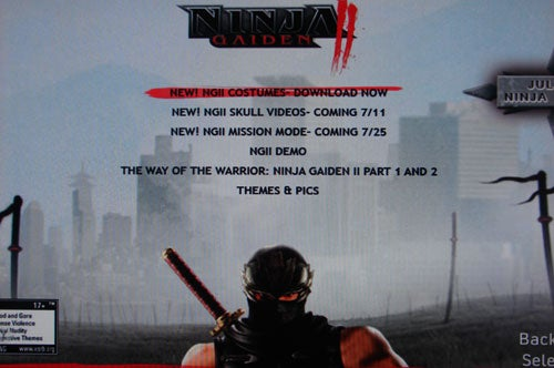 Ninja Gaiden II Mission Mode Coming This Month