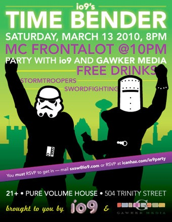 Join Lifehacker at SXSW for io9's Time Bender Party