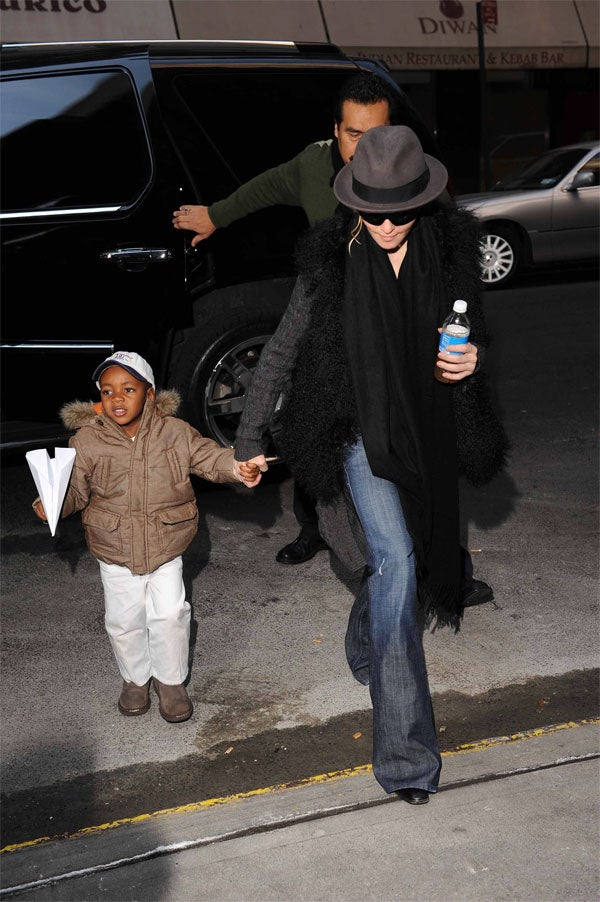 Madonna's Little Man Flies High