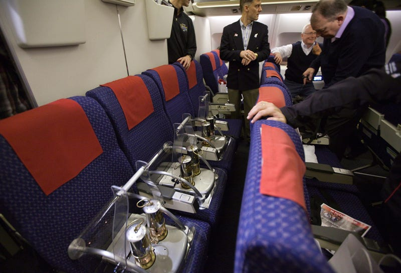 The Olympic Flame Gets Six Airplane Seats to Itself