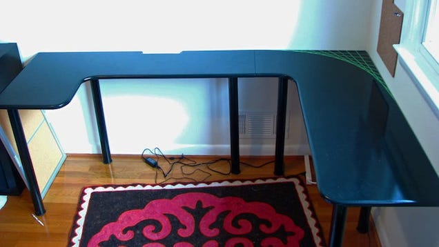 Build Your Own U Shaped Computer Desk For Less Than 100