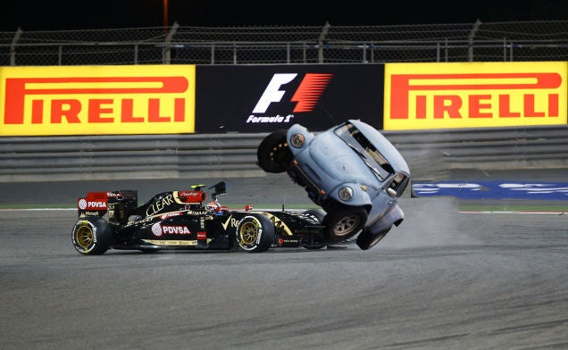 Come On Pastor Maldonado, You're Laughing On The Inside