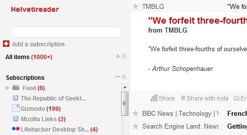 Helvetireader 2 Strips Down and Simplifies Google Reader