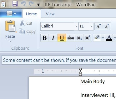 Windows 7's WordPad Opens Word 2007 DOCX Files