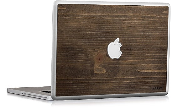 A Woodie MacBook Skin Really Classes Up the Joint