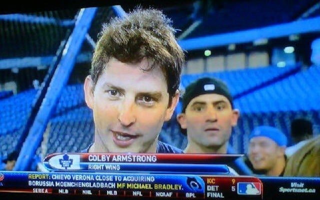 Biz Nasty Photobombs Blue Jays' Batting Practice