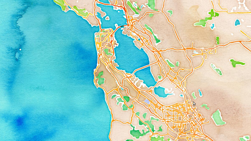We All Live in a Watercolor With These New OpenStreetMap Skins