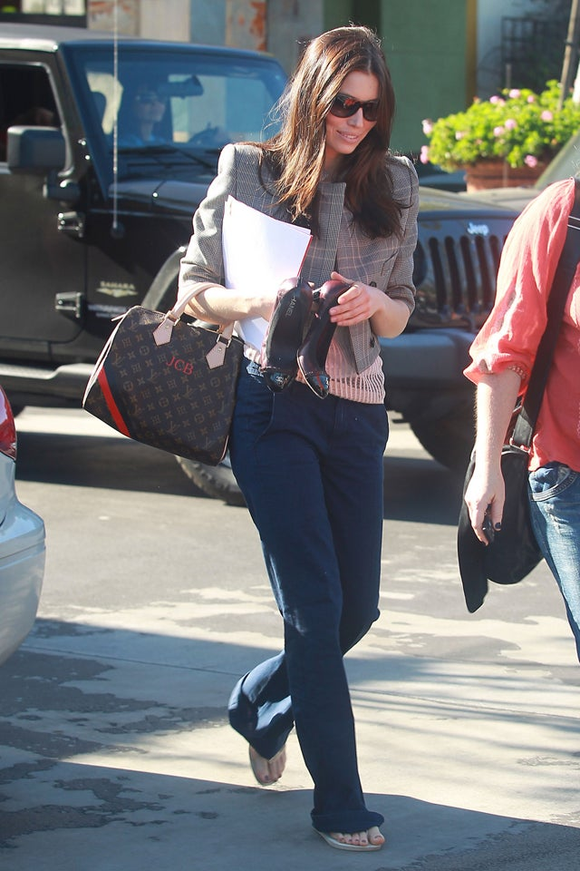 What Are Your Initial Thoughts About Jessica Biel's Vuitton Bag?