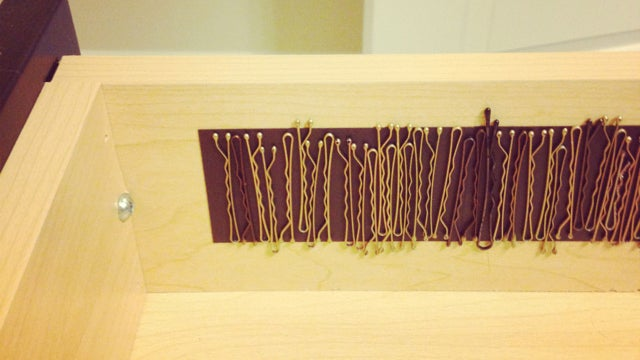 Store Paper Clips, Bobby Pins, and More with Magnetic Tape