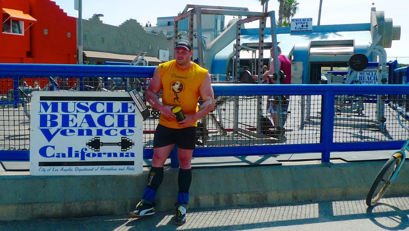 A Day at Muscle Beach with the World's Strongest Man