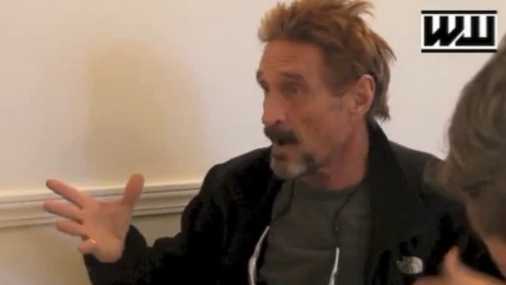 "John McAfee: ""The More Ugly The Woman, The Better The Sex"""
