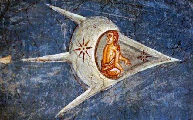 Why are there spaceships in Medieval art?