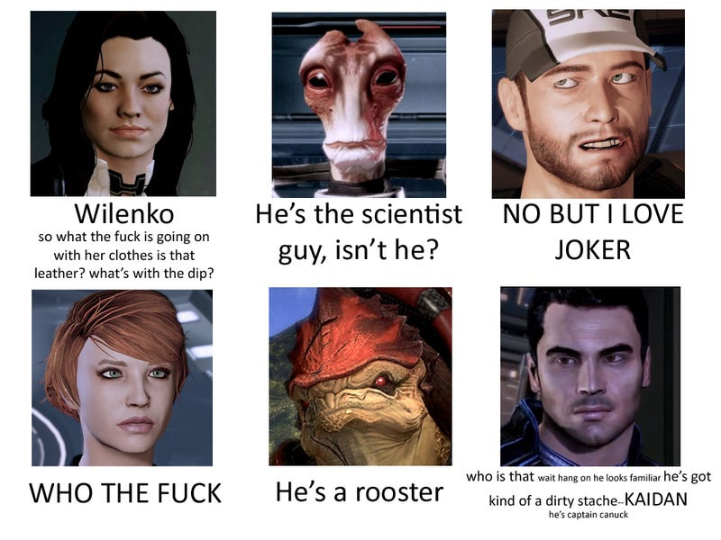 What Mass Effect Looks Like to Someone Who Doesn't Play Mass Effect