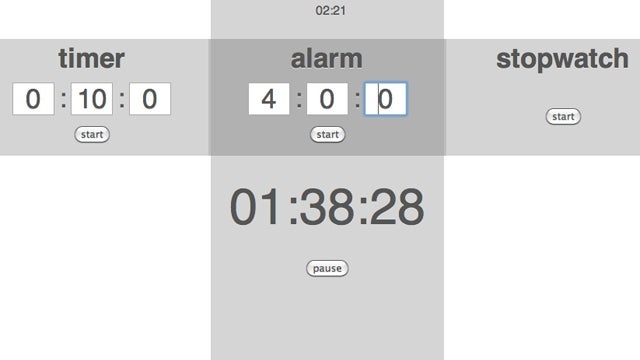 Timer Tab Combines an Alarm Clock, a Timer, and a Stopwatch into a Free Chrome Extension