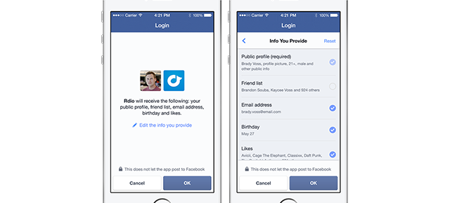 Logging Into Apps With Facebook Is About to Get a Lot Less Creepy