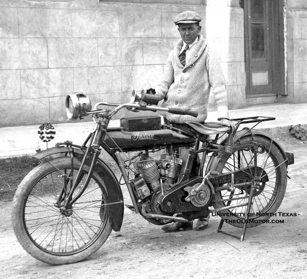 Proud Indian Motorcycle Owner-Circa 1918