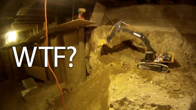since 1997 a man has been digging out his basement using only r c