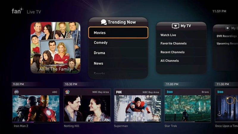 Fan TV Is a Hot Set-Top-Box Organized Around Content Instead of Apps
