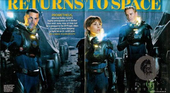 Prometheus Entertainment Weekly Set Pictures