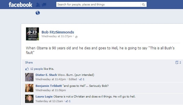 Virginia Republican Party Official Says Obama's Road to Hell is Paved with Bush's Intentions